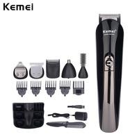 Kemei 6 IN 1 Multifunctional Hair Trimmer Professional Hair Clipper Men Electric Shaver Beard Trimmer Shaving