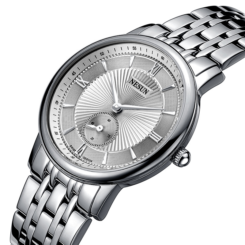 Nesun Switzerland Роскошные Брендовые Часы для женщин Japan MIYOTA Кварцевые женские часы из нержавеющей стали парные часы N8501 SW1