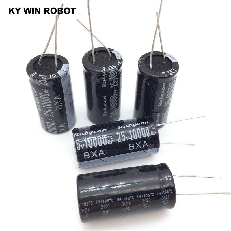aluminum electrolytic Aluminum Electrolytic Capacitor 25V / 10000 UF 25V/10000UF Electrolytic Capacitor Size 18*35 mm plug-in 25V 10000UF (5)