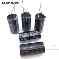 aluminum electrolytic capacitor Aluminum Electrolytic Capacitor 25V / 10000 UF 25V/10000UF Electrolytic Capacitor Size 18*35 mm plug-in 25V 10000UF (5)