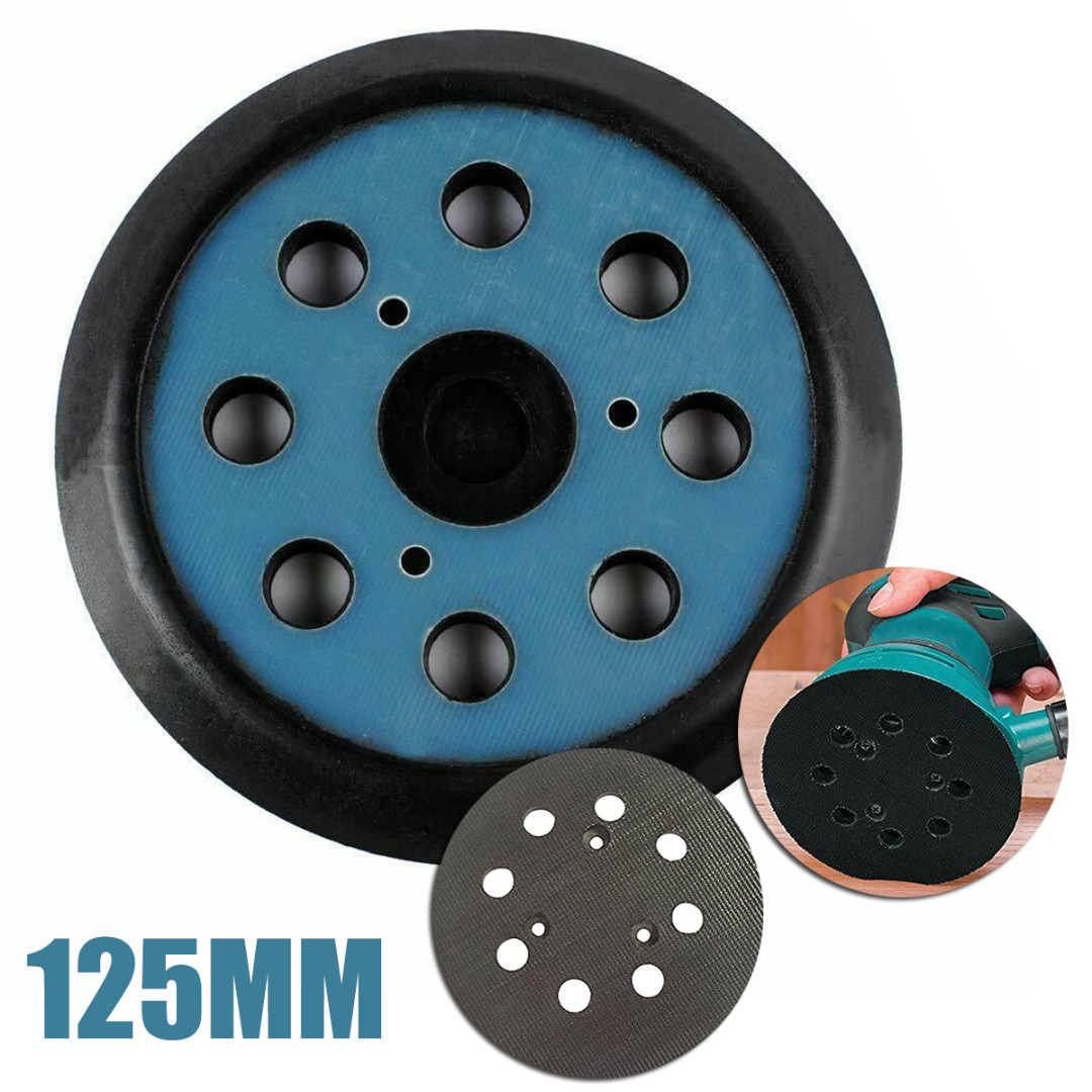 Mayitr 1pc 5Inches 125mm 8-Hole 3 Nails Hook Sanding Base + Pad With Makita Random Orbit Sander Replacement For Electric Grinder