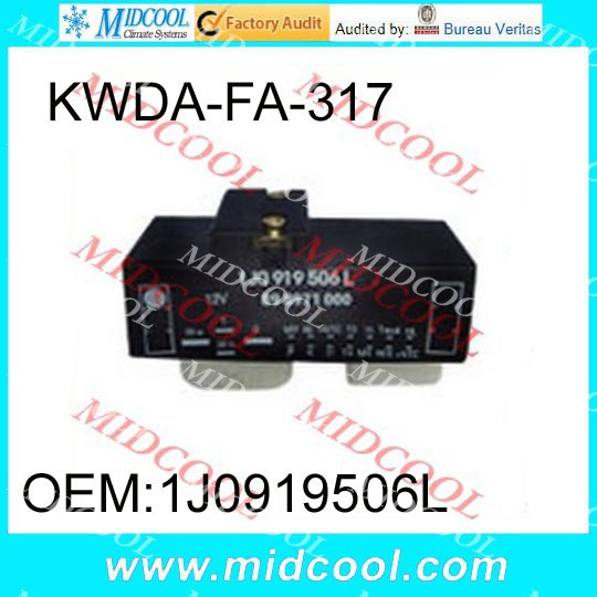 Free Shipping Cooling Fan Control Switch Relay Radiator FOR Volkswagen 1J0919506L 1J0 919 506L