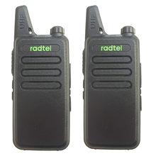 2 pcs RADTEL RT-10 UHF 400-470 MHz MINI Estação de Ham Rádio em dois sentidos handheld transceiver Walkie Talkie WLN kd c1 calhar talky