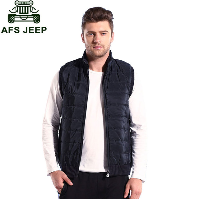 2016 Autumn New Fashion Men Casual Fleece Warm Thick Brand-Clothes CLOTHES Vests Classic Waistcoat Stand Collar Mens M-3XL
