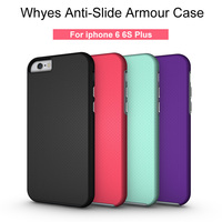 For Apple IPhone 6 6S Plus Case PC + TPU Hybrid Dual Layer Anti-Slide Impact Resistant ShockProof Phone Cover Heat Dissipation