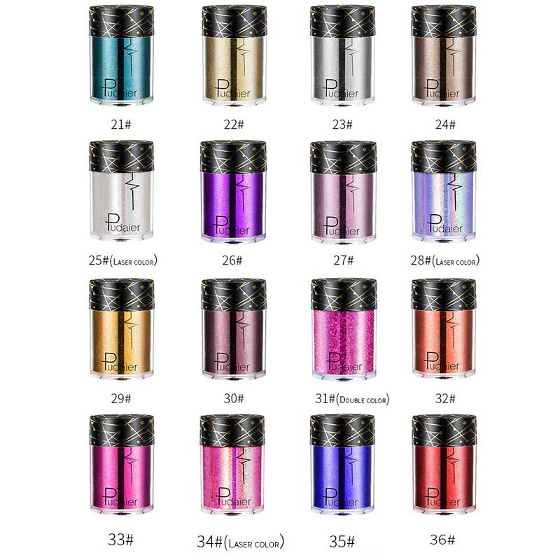 Makeup Body Glitter Cosmetic Shimmer Powder For Hair Nail Lips Eyes Professional Tattoo Pigment Party Dance Festival Glitters 4