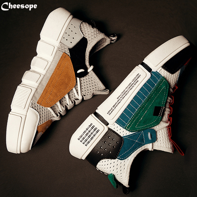 6 видов цветов для отдыха повседневная обувь мужские кроссовки 9908 Для мужчин тренд мужской дышащая обувь из сетчатого материала Свет удобная модная обувь на шнуровке