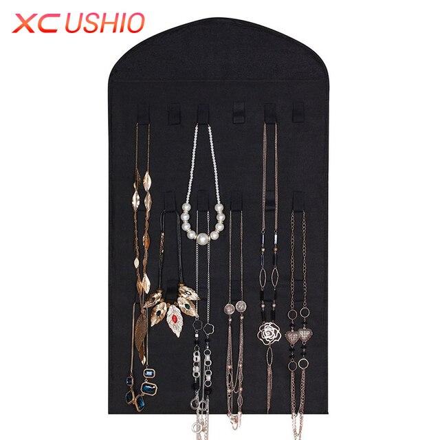 32 Pockets Jewelry Hanging Organizer Earrings Necklace Jewelry ...