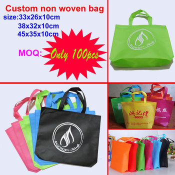 custom printed LOGO shopping handle gift non woven bag(non-woven) for garment
