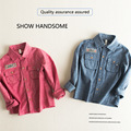 2016 Autumn winter all matched cotton solid baby kids Blouse boy turn down collar shirts long sleeves children christmas gift