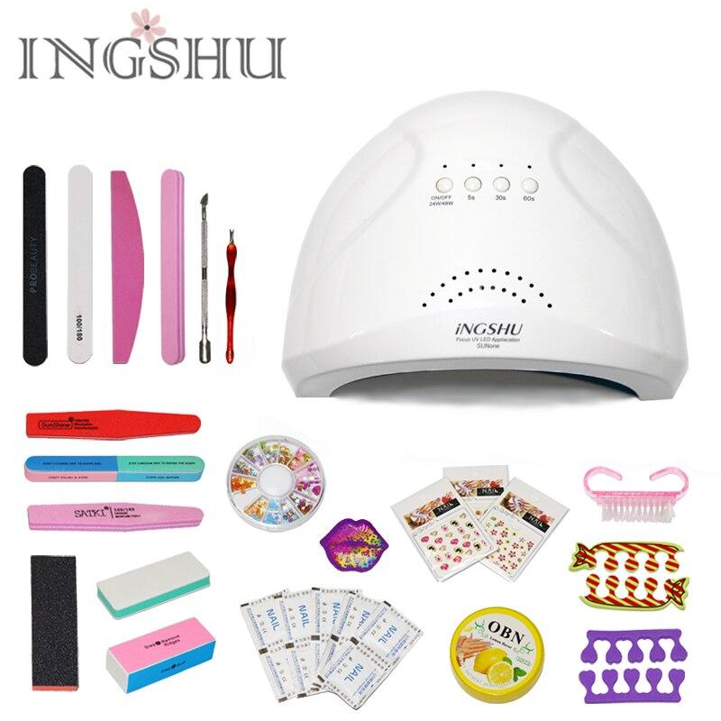 INGSHU SUNone 48W/24W Sensor Dual White UV Light LED Lamp Nail Dryer Fast Drying For Curing Nail Gel Polish