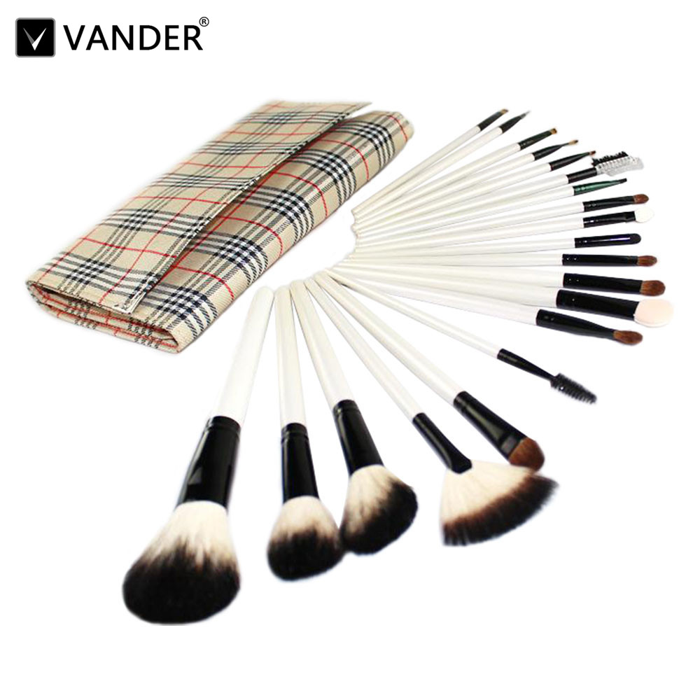 Vander Professional 20PCS Purple Beautiful Makeup Brushes Set Cosmetics Powder Pincel Make-up Blush Soft Mquiagem Styling & Bag