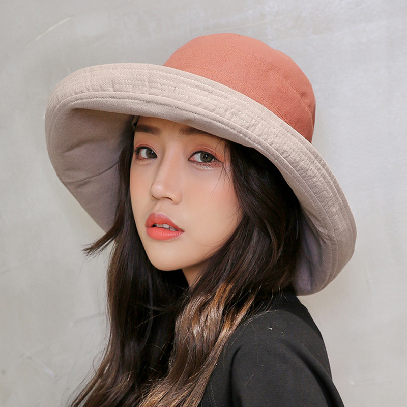3335cbcb1ca Cotton Fashion Bucket Hats Solid Panama Summer Fishing Hat Female Caps Fine  grid hat UV Protection Sun Hat Pink Gray Black Red-in Bucket Hats from  Apparel ...