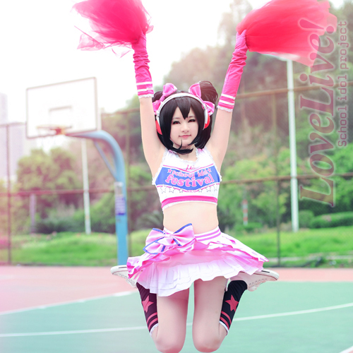 Love Live! lovelive Yazawa Nico cheerleaders uniform Anime Cosplay Costume Japanese halloween Costumes for women  sc 1 st  AliExpress.com : cheerleader halloween costume women  - Germanpascual.Com