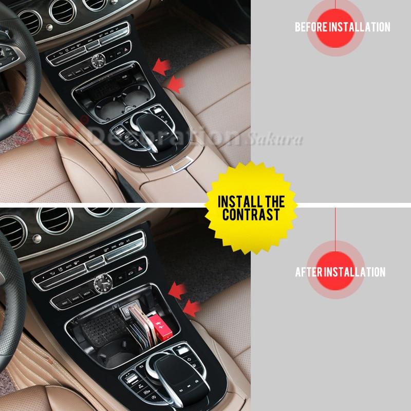 Piese de schimb !! Accesorii Carucior pentru pahare Organizator cutie de depozitare pentru Mercedes-Benz V Clasa W447 2015 2016 2017