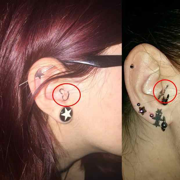 1pc Ear Cartilage Tragus Piercing Helix Earrings Heart Labret Rings Lip Hoop Star Seamless Nose Rings Body Jewelry