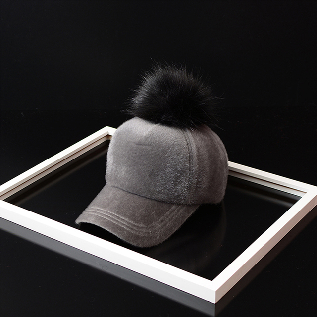 Unisex Fashion Solid Polyester Hip Hop Cap with Fur Pom Pom Baseball Cap for  man women Adjustable Snapback Cap A410 5b698611cb5e