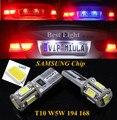 2 pcs t10 w5w 194 168 samsung chip de led da placa de licença luz Da Lâmpada do Bulbo Para Para Subaru Legacy Outback Forester Impreza XV
