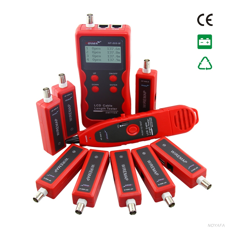 BNC Cable Tester  Wire Tracer Cable Scan Break Point  Length Tester 8 Remote Units For RJ45/RJ11/BNC/USB