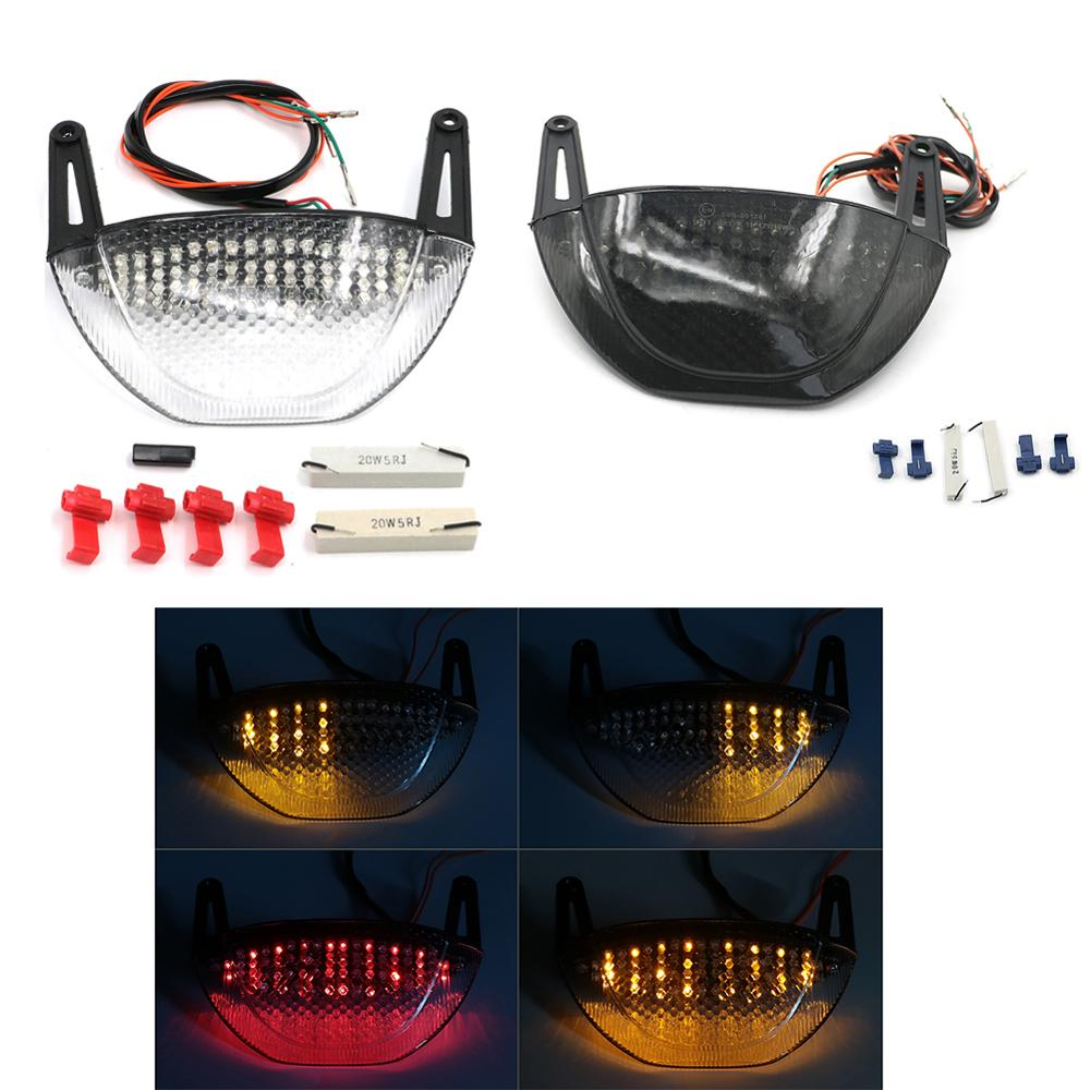 Motorcycle Rear LED Tail Light For Honda CBR600RR CBR <font><b>600</b></font> RR 2007 - 2012 <font><b>2008</b></font> 2009 2010 2011 Brake Turn Signals Integrated image
