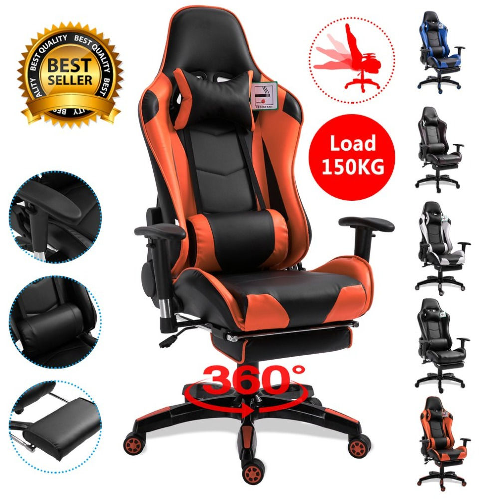 Awesome Us 208 33 5 Colors Ergonomic Reclining Racing Chair With Armrest Comfortable Executive Computer Chair Revolving Gaming Recliner In Office Chairs Evergreenethics Interior Chair Design Evergreenethicsorg