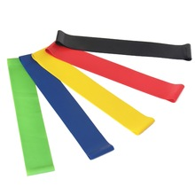 Set 5 nivåer 5-48lb Latex Resistance Bands Fitness Gummi Loops Band Gym Styrketreningsutstyr