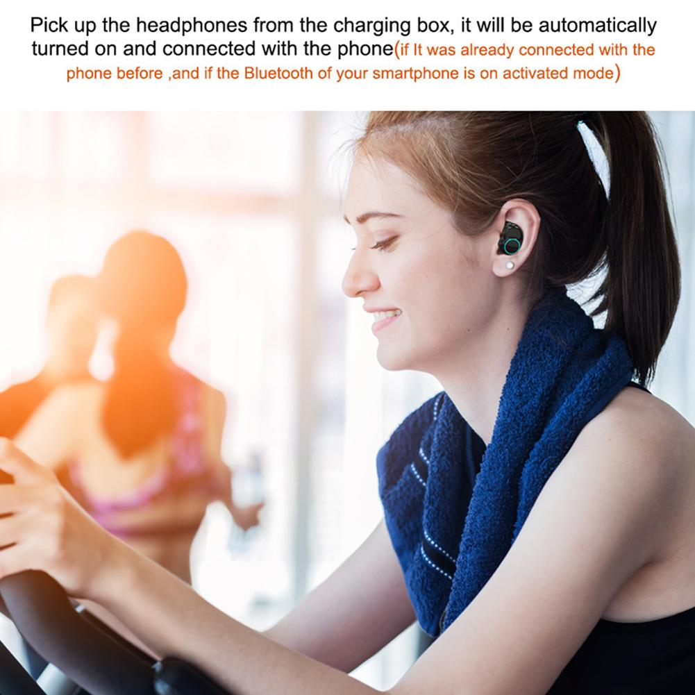 Image 3 - 3D Stereo Sound Earphone For ONIKUMA TWS T3 Bluetooth Headset 5.0 Double Ear Waterproof Wireless Sport Earbuds With Charging Bin-in Bluetooth Earphones & Headphones from Consumer Electronics