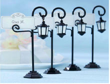 10pcslot free shipping creative road lamp table place card holder wedding party supplies zh9425