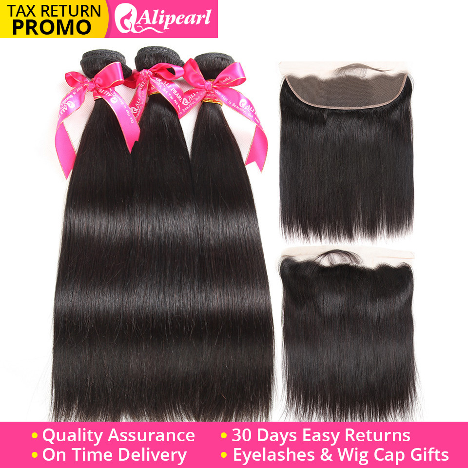 Human Hair Weaves Alipearl Hair 4 Bundles With Closure Brazilian Water Wave Bundles With Lace Closure Baby Hair 5 Pcs Lots Remy Hair Extensions Be Friendly In Use