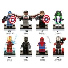 Black panther super heroes legoing marvel Captain America Building Blocks font b Toys b font for