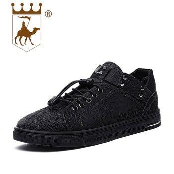 BACKCAMEL Новый Мужские кожаные туфли двухслойный Повседневная кожаная обувь дышащая легкая обувь Вулканизированная обувь Размер 38-44