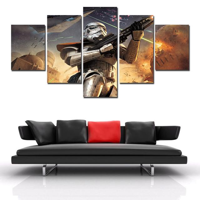 5 Pieces/set Star Wars Home Decor Canvas Print