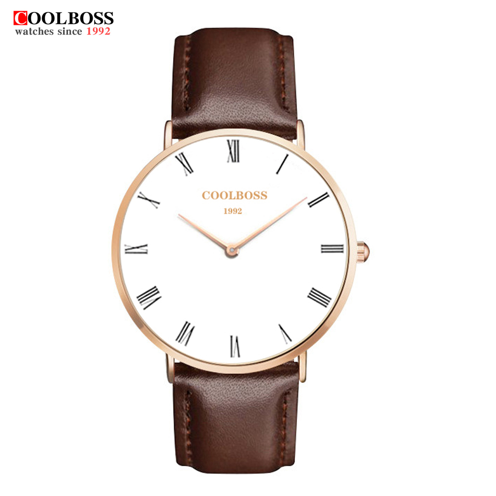Mens Watches coolboss Brand Casual Military Quartz Sports Wristwatch Classic Leather Strap Male Clock watch men reloj hombre new listing men watch luxury brand watches quartz clock fashion leather belts watch cheap sports wristwatch relogio male gift