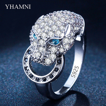 Hot Popular Silver Leopard Rings for Women Fashion Animal Rings Party Punk Jewelry Accessories Anel Bijoux Perfect Gifts AR045