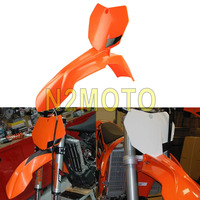 Orange Motorcycles Front Fender Mudguard Front Number Plate Motorcross for KTM 250 SX F 250 XCF W 450 SX F 2013 2015