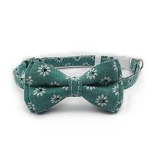 New 3 Color Bow Pet Collar Cotton Cloth Small Cat Buckle Supplies