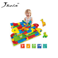 Yamala Run Rolling Ball Rail Building Block Enlighten Bricks Trajectory Education Toys For Kids Compatible With