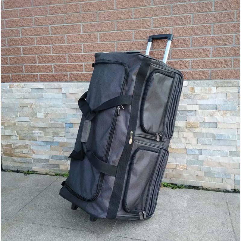 LeTrend 33 cal podróżna o dużej pojemności torby wodoodporne Oxford walizka koła Spinner Rolling przechowalnia podróż wózek mężczyzna bagażnika w Torby podróżne od Bagaże i torby na  Grupa 1