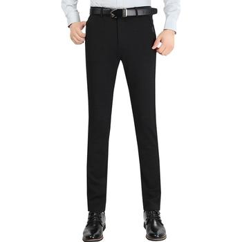 Autumn Winter Men Suit Pants Mens Silk Trousers Business Men's Pant Western Style Pants Formal Wedding Party Dresses Size 33-40