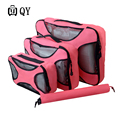 Travel Bag Duffel Durable 6 Pieces One Set Large Capacity Of Unisex Clothing Sorting Organize  Nylon Packing Cube