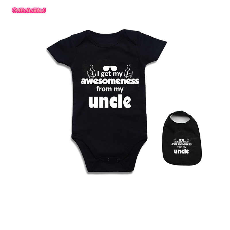 a862e2b58 ... Baby Clothes Newborn Baby Bodysuit Short Sleeve Baby Boy Girl Outfit  Set Funny auntie uncle jumpsuit ...