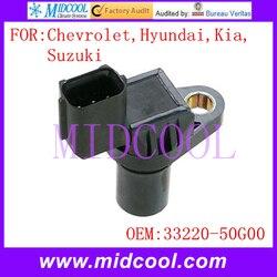 Nowy wałek rozrządu czujnik pozycji używać OE nr 33220-50G00   J5T23182   J5T23181   J5T23191 dla Chevrolet Hyundai Kia Suzuki