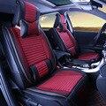 2017 asiento de coche fundas para asientos delanteros y traseros de lujo completa fundas de cuero de microfibra coche cubre protectores de asiento 1 Unidades