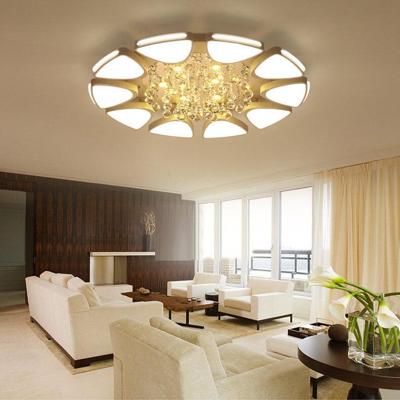 Moderne contemporain cristal plafonnier encastré LED luminaire Empire Antique chambre salon lampe