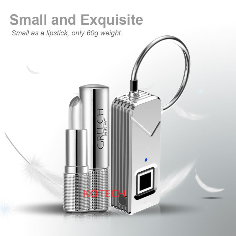 smart fingerprint padlock with multi-use portable outdoor lock small and intelligent fingerprint lock PADLOCK2.0 free shipping security smart portable fingerprint padlock luggage lock bag drawer lock