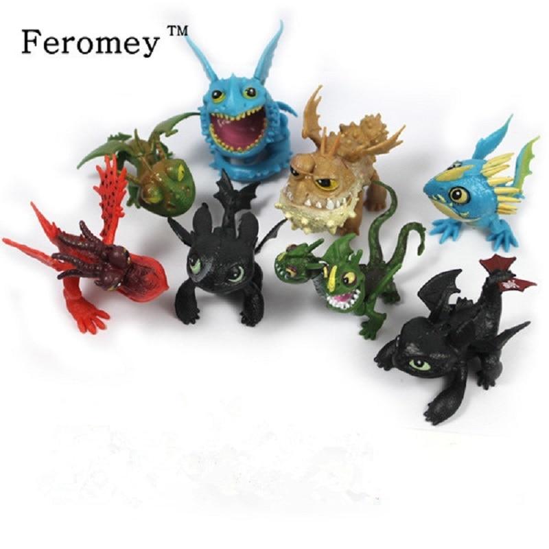 Cómo entrenar a tu dragón Anime figura de acción juguetes noche furia desdentado Gronckle Nadder mortal dragón figura modelo juguetes para niños regalo