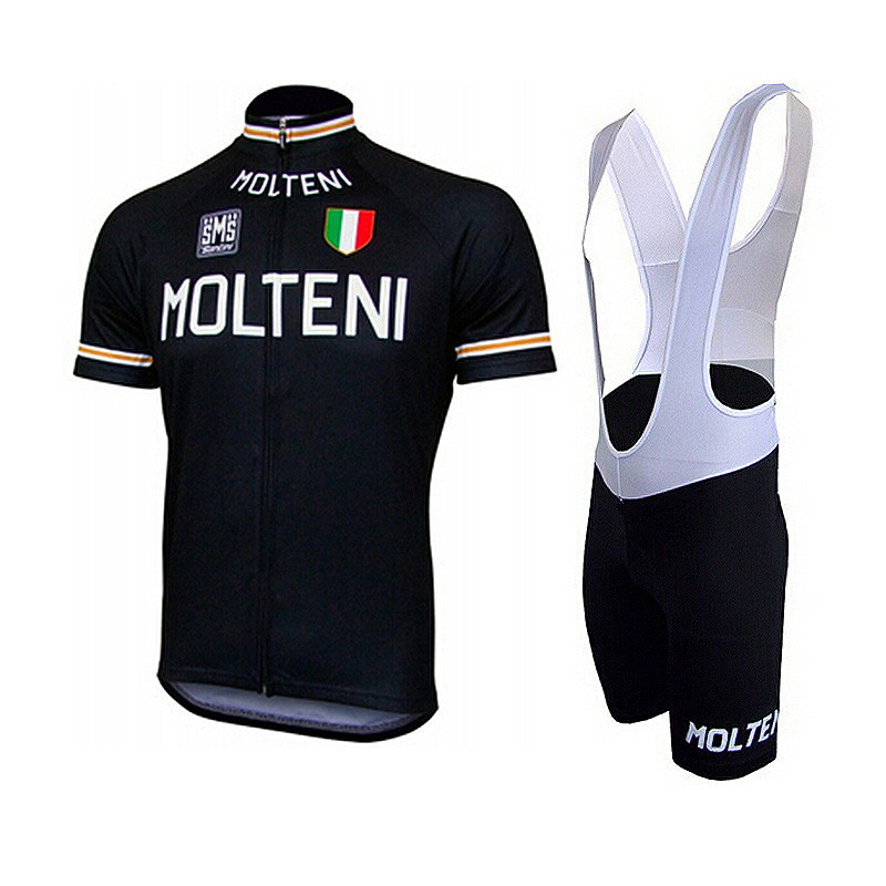 Factory Outlet ! molteni cycling jersey 2015 black color short sleeve bib  shorts set retro ropa ciclismo hombre bicycle kits-in Cycling Jerseys from  Sports ... 0616616b9