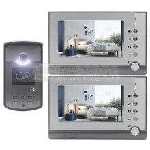 DIYSECUR 7 pulgadas Pantalla a Color LCD de Video de La Puerta Teléfono Manos Libres Lector de RFID Tarjeta de Clave de Intercomunicación Timbre Visión Nocturna LED entrar cámara