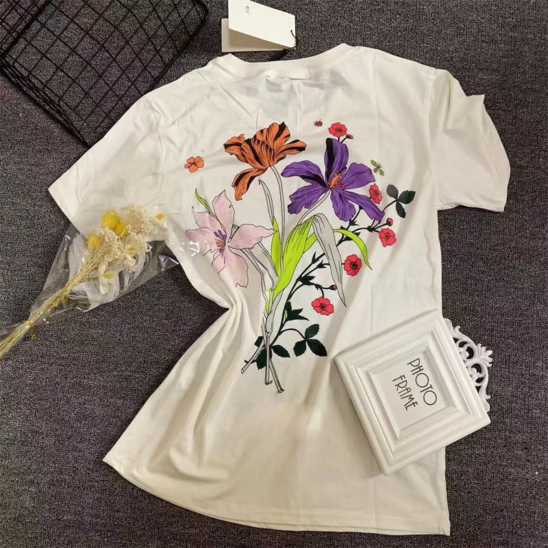 good quality new 2019 princess snow Women Tshirt harajuku flora print T Shirt casual Top Tee short sleeve