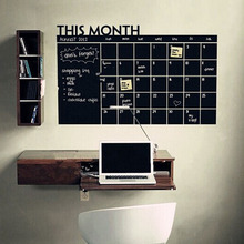 BEST 64x100cm DIY Monthly Chalkboard Calendar Vinyl Wall Removable Planner Mural Wallpaper Stickers